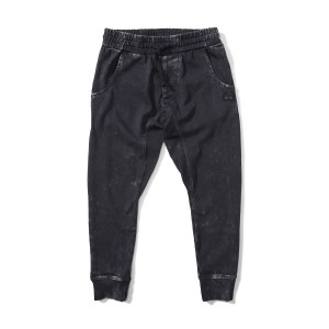Munster Kids Sun Bleached Track Pant in Black