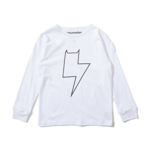 Munster Kids Long Sleeve Tee in Bolter White