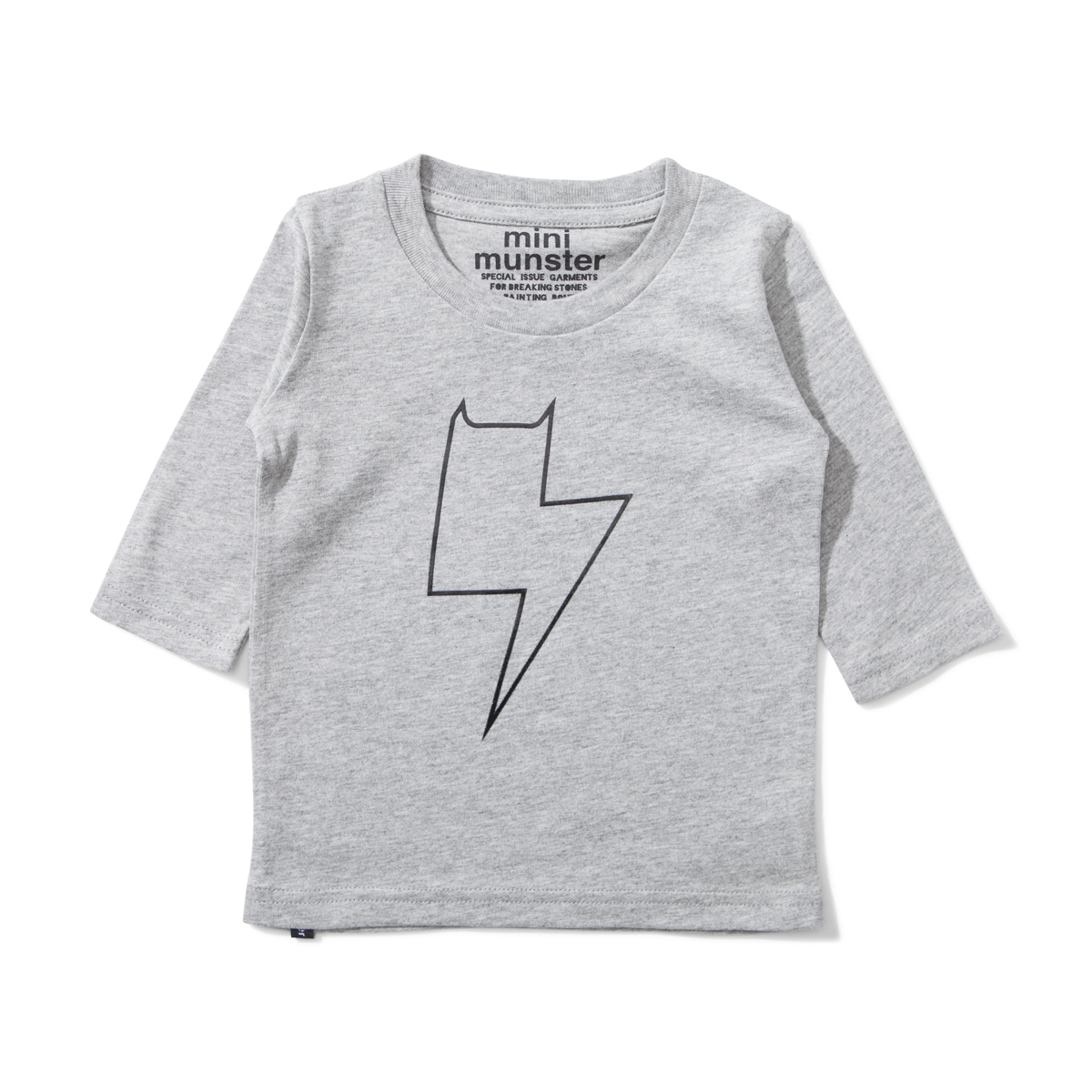 Munster Kids Plugged In Short Sleeve Tee in Grey