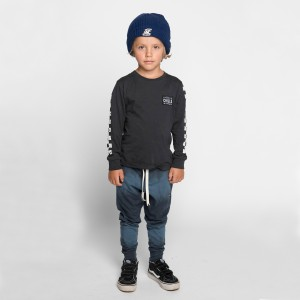 Munster Kids Triple Dunk Pant in Blue on boy