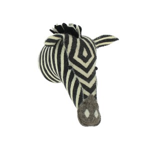 Fiona Walker Animal Head Mini Zebra