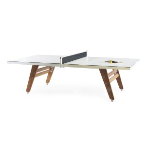 RS Barcelona Stationary Ping Pong Table in White