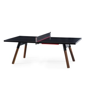 RS Barcelona Medium You & Me Ping Pong Table in Black