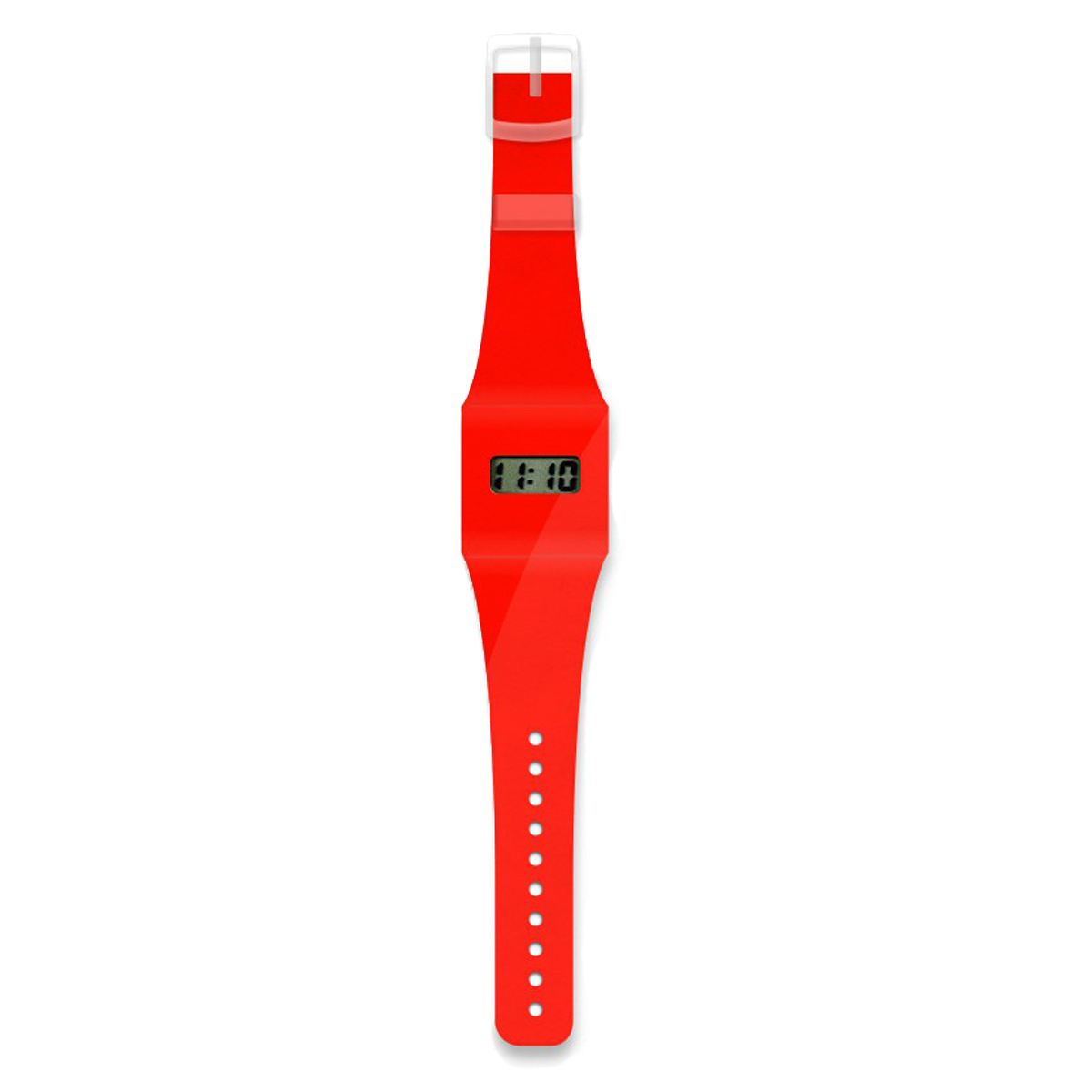 I Like Paper Neon Red Pappwatch