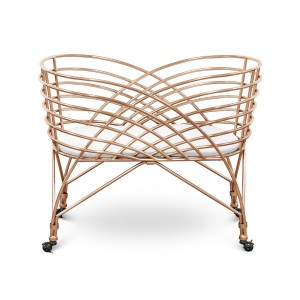 Nursery Works Metal Aura Bassinet in Rose Gold