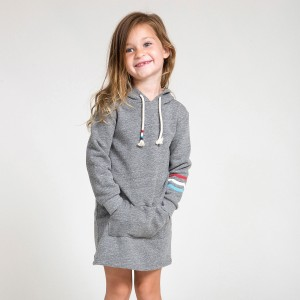 Sol Angeles Flag Waves Hoodie Dress on Girl