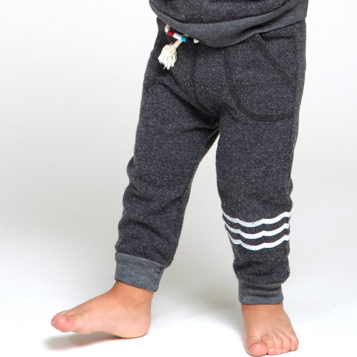 Sol Angeles Waves Hacci Jogger Pant in Black