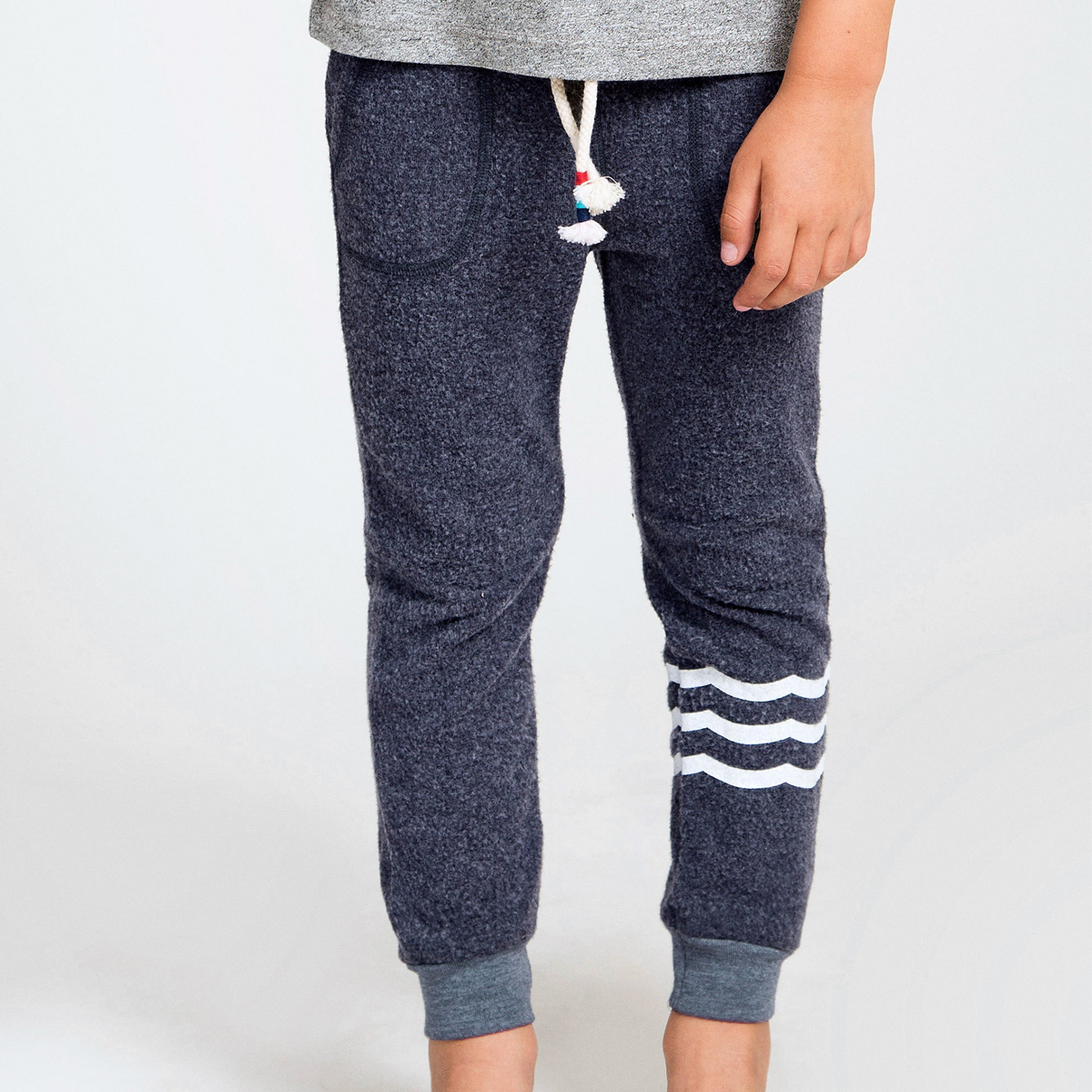 Sol Angeles Waves Hacci Jogger Pant in Indigo