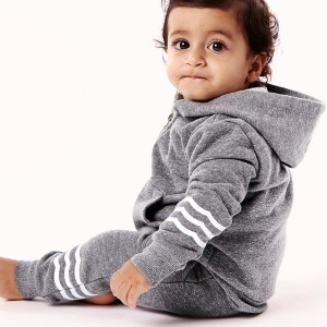 Sol Angeles Waves Jogger Pant in Heather Grey on baby