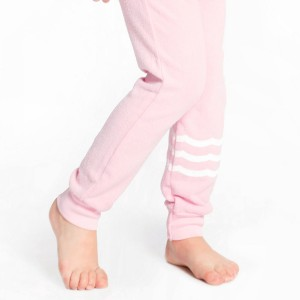Sol Angeles Waves Jogger Pant in Pink