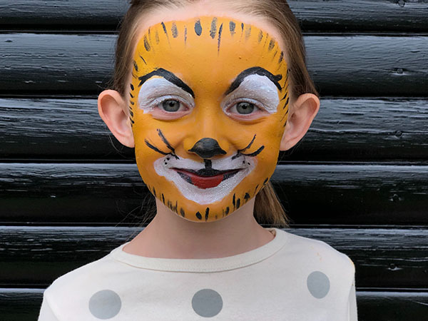 how to face paint tiger