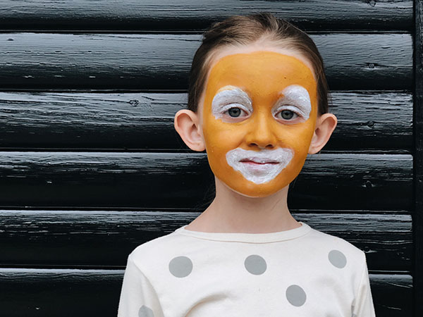 Tiger face paint step by step
