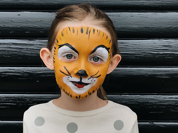 how to tiger face paint