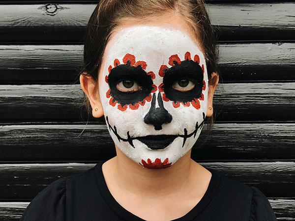Mexican skull face paint