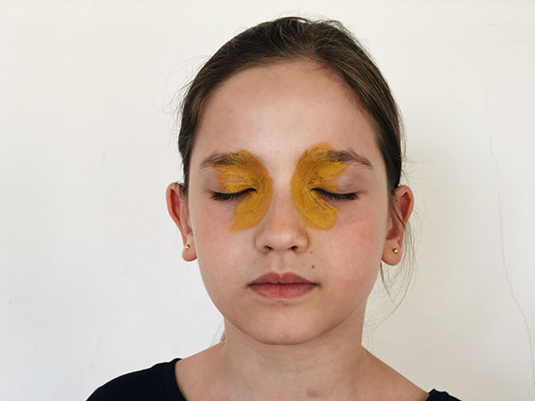 Butterfly face paint demo