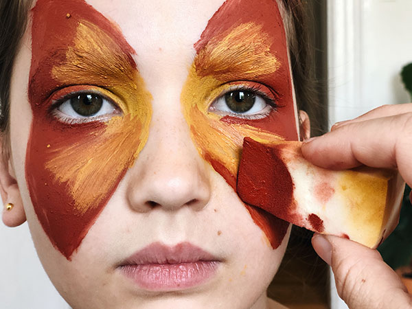 how to face paint butterfly