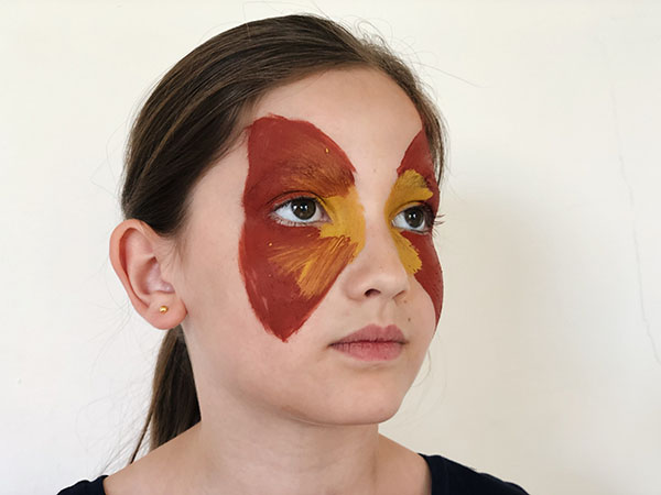 butterfly face paint how to