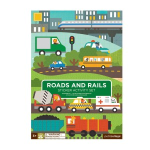 Petit Collage Roads & Rails Sticker Activity Kit