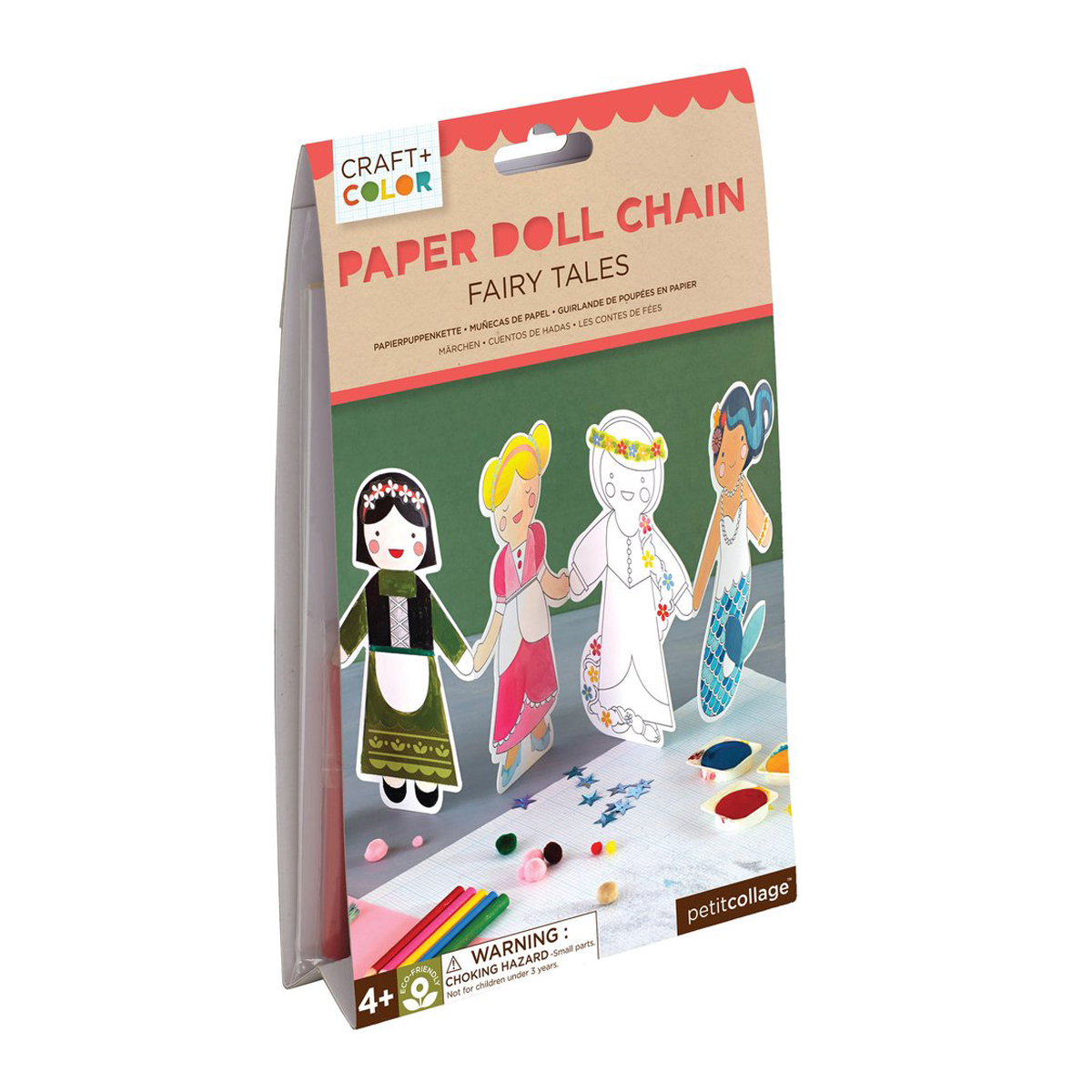 Petit Collage Fairy Tales Paper Doll Chain Craft Kit