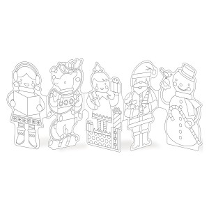 Petit Collage Holiday Paper Doll Chain Craft Kit