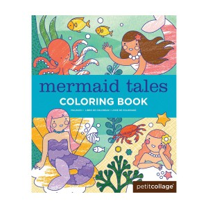 Petit Collage Mermaid Coloring Book