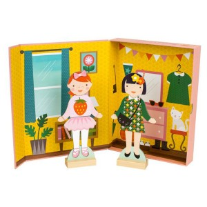 Petit Collage Best Friends Magnetic Dress Up Play Set