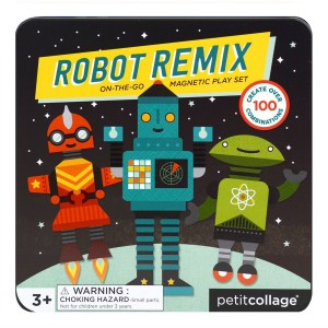 Petit Collage Robot Magnetic Play Set