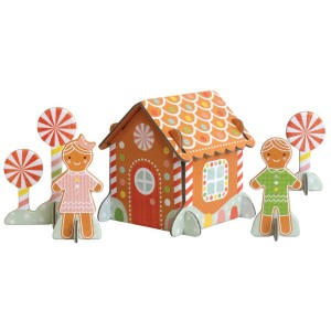 Petit Collage Gingerbread House Pop Out Play Set