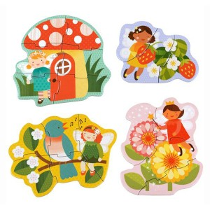 Petit Collage Beginner Puzzles Set in Fairies