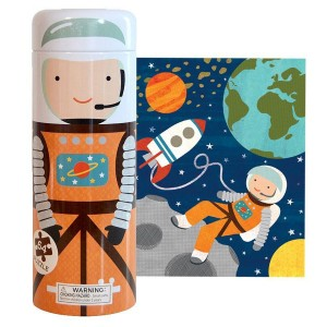 Petit Collage Into Space Puzzle Tin