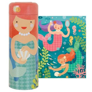 Petit Collage Mermaids Puzzle Tin