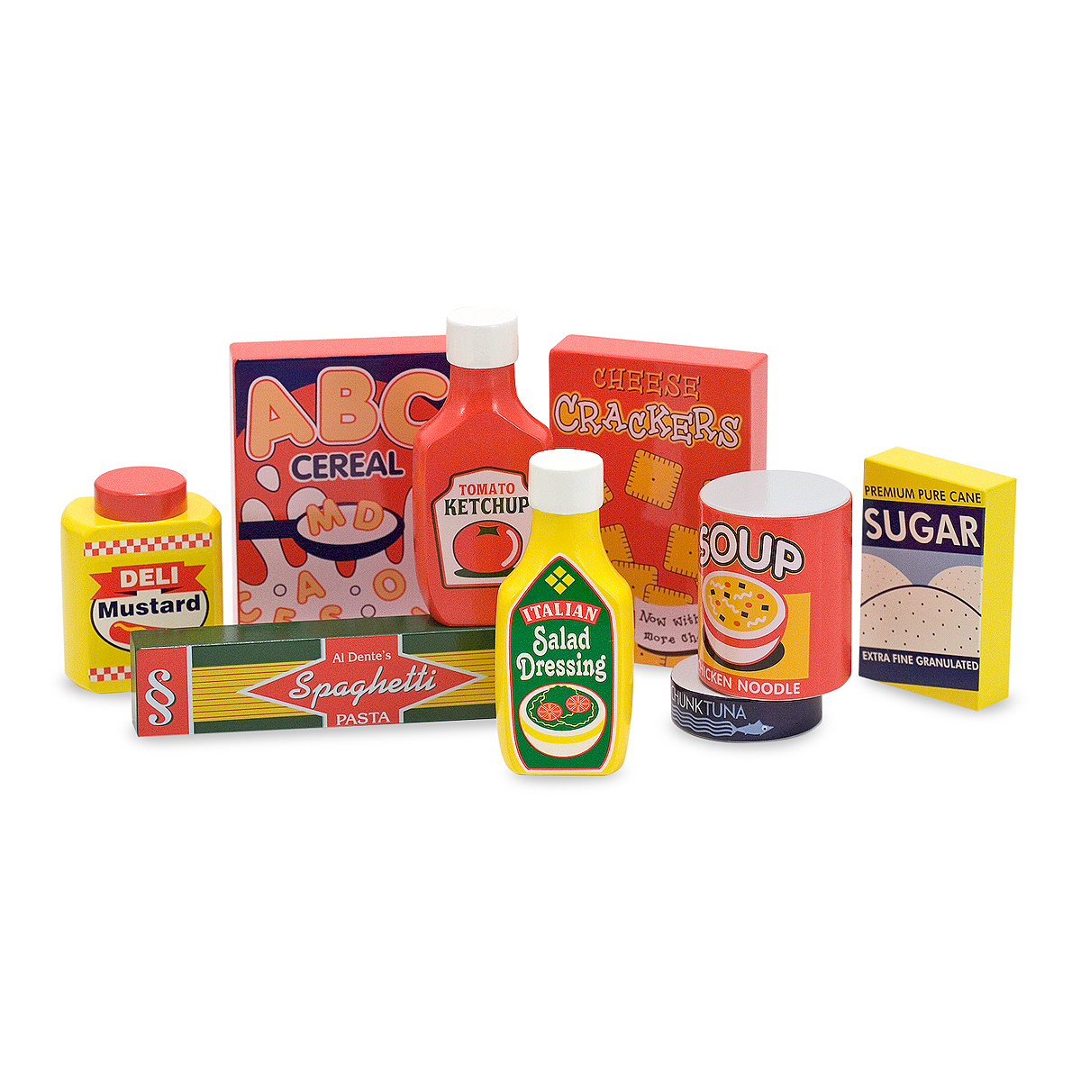 Melissa & Doug Wooden Pantry Products play food