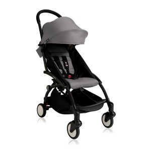 Babyzen Yoyo + Stroller in Black with Grey