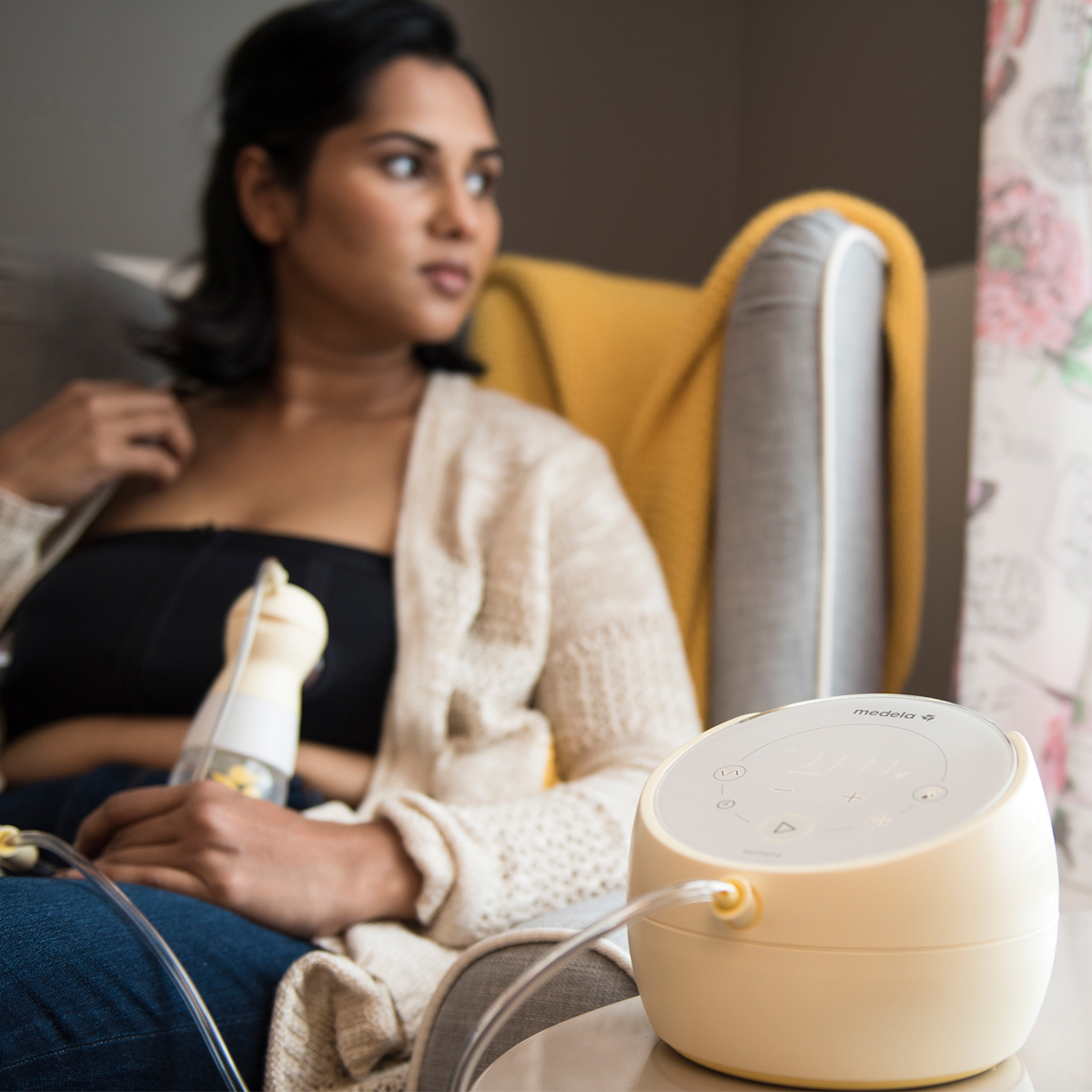Medela Sonata Breast Pump with woman