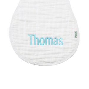 The Tot Personalized Monogram Burp Cloth in Collins Font