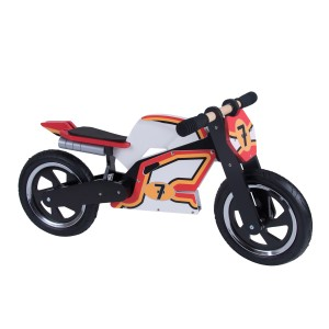 Kiddimoto Wooden Heroes Balance Bike in Barry Sheene