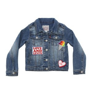 Levi's Denim Trucker Jacket Personalized with Levi's Brand Patches