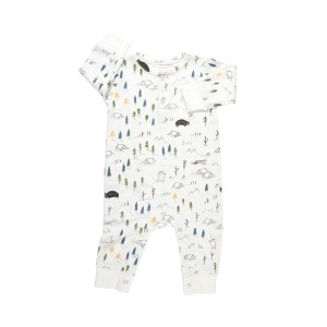 Red Caribou Organic Long Sleeve Jumpsuit in The Expedition White