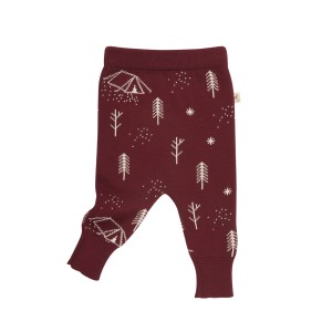 Red Caribou Knitted Pants in Tibetian Red