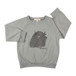Red Caribou Wooly Sweatshirt in Grey