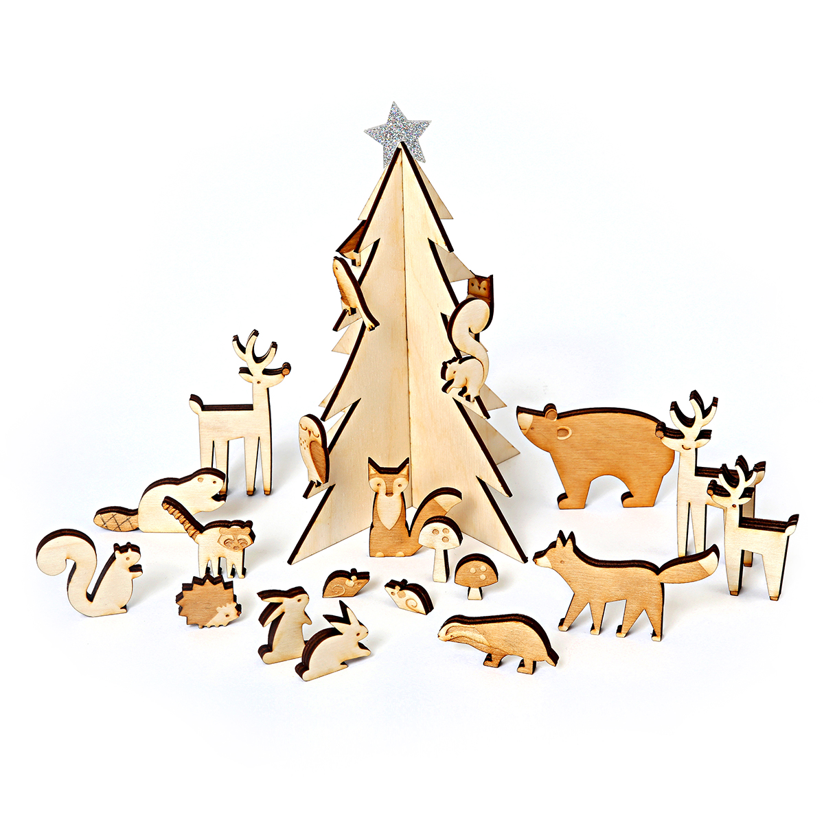 Meri Meri Wooden Woodland Creatures Advent Calendar