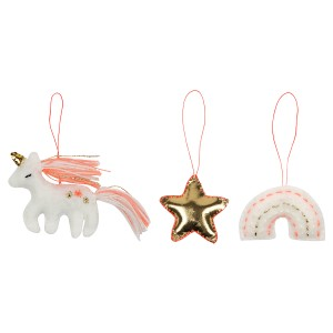 Meri Meri Magical Unicorn Christmas Tree Decoration Set