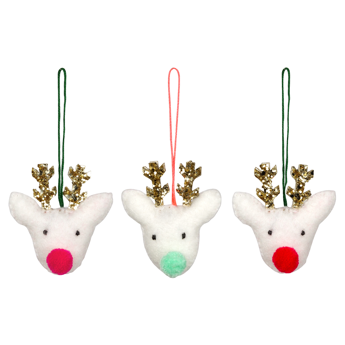 Meri Meri Reindeer Trio Christmas Tree Decoration Set