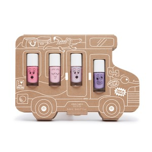 Nailmatic Water-Based Nail Polish Set of 4 in Van Story
