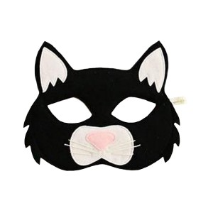 Opposite Of Far Felt Black Cat Mask
