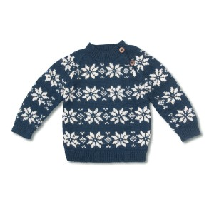 Shirley Bredal Star Sweater in Navy & White