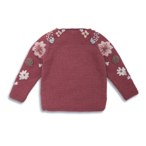 Shirley Bredal Flora Sweater in Deep Berry