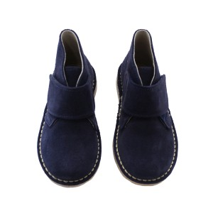 ChildrenChic Suede Velcro Boots in Navy