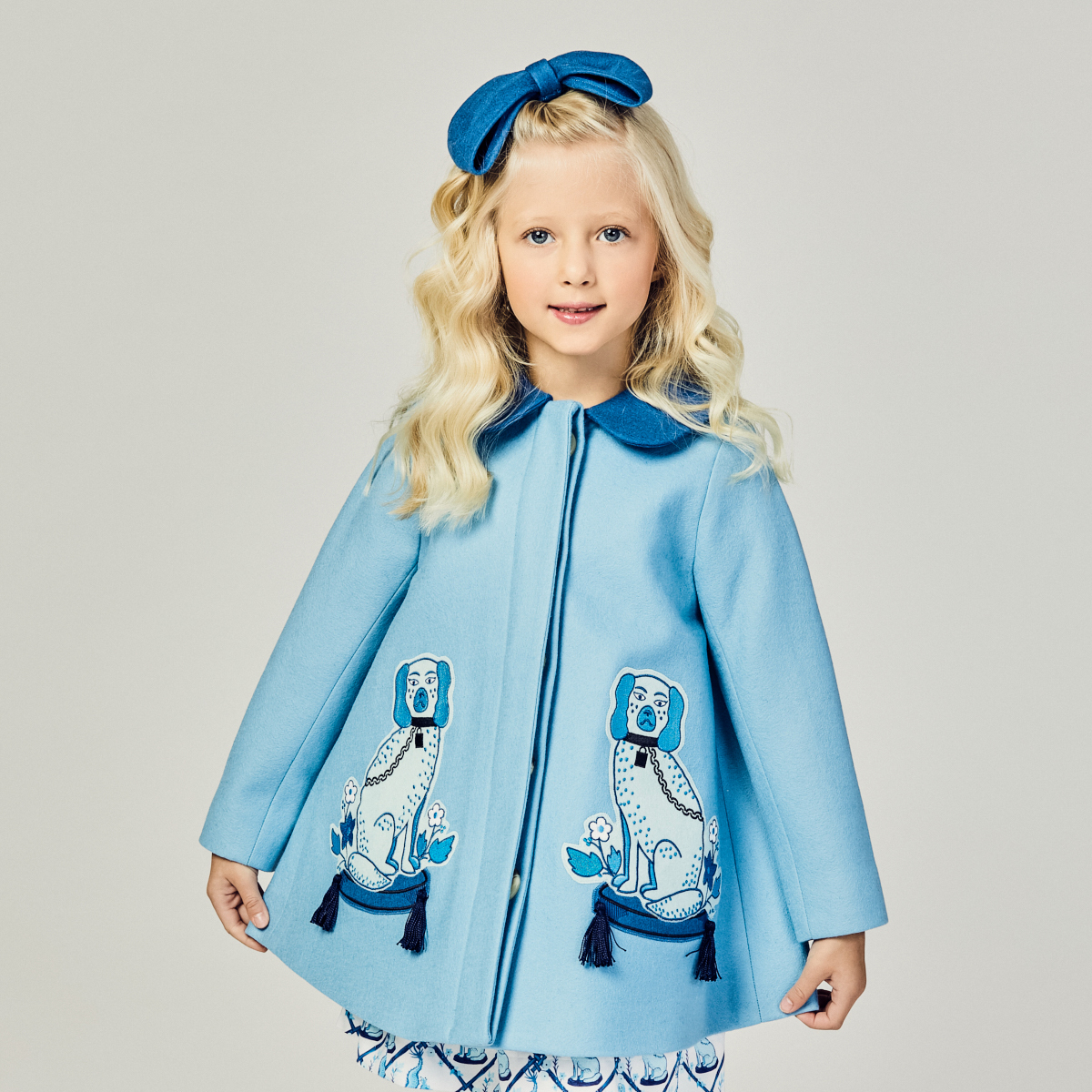 Little Goodall Blue Aldrich & Madame Du Bleu Wool Coat on girl
