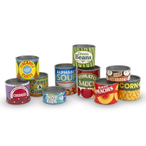 Melissa & Doug Play Grocery Cans